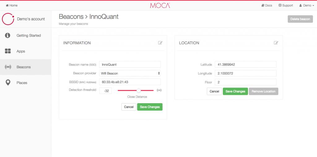 MOCA - wifi proximity