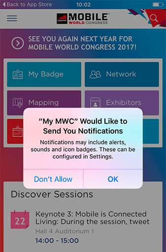 MWC Notifications - MOCA Platform