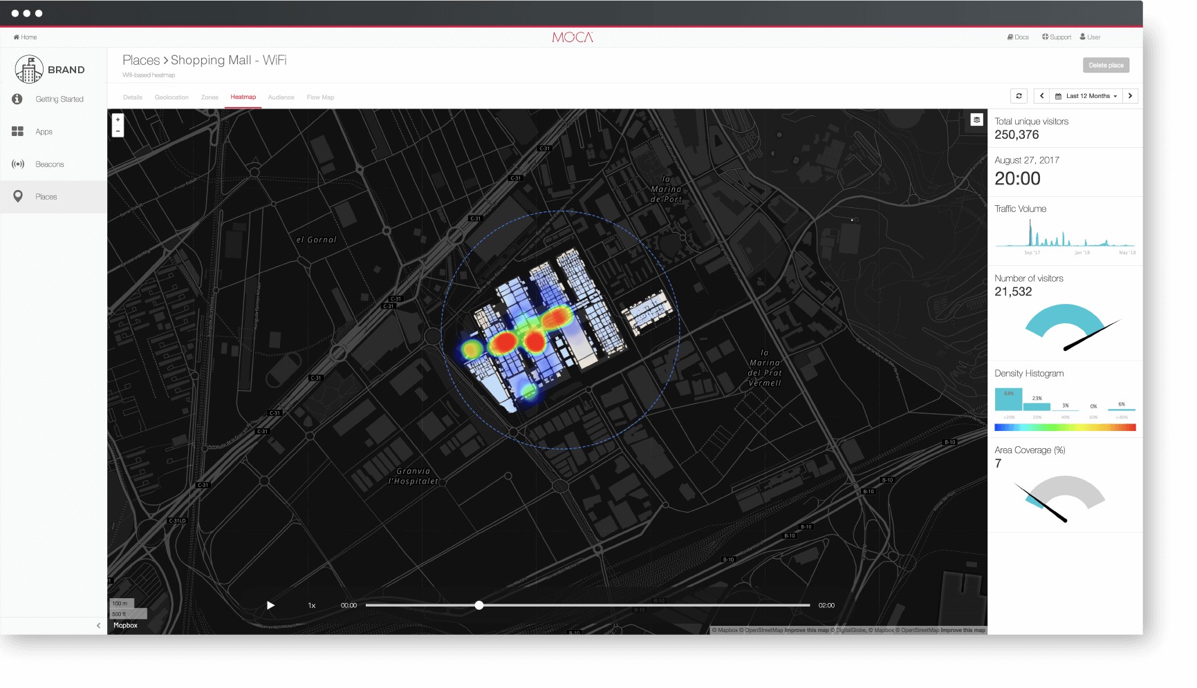 wifi location heatmap